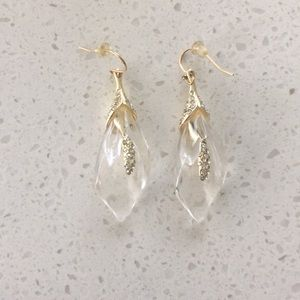 Alexis Bittar lily lucite gem encrusted earrings
